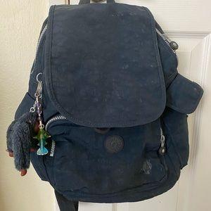 Kipling Navy Backpack with front pocket
